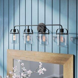 Reviews Portland 4-Light Vanity Light ByLaurel Foundry Modern Farmhouse