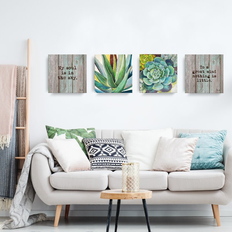 brilliant succulents i ii painting print on wrapped canvas