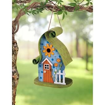 Home Bazaar Printedhanging Wren House Black Eyed Susan6 5 In X 8 In X 6 5 Inbirdhouse Wayfair