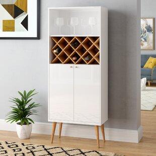 Lemington 10 Bottle Floor Wine Rack China Storage Closet with 4 Shelves by George Oliver