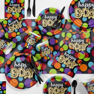 Balloon Birthday Party Paper/Plastic Supplies Kit (Set of 81)