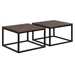 Hensley 2 Piece Square Coffee Table Set (Set of 2)