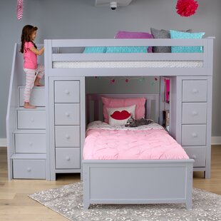 Best Reviews Ayres Twin Standard Bed with Staircase by Harriet Bee Reviews (2019) & Buyer's Guide