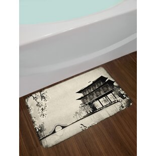 Ink Japanese Bath Rug