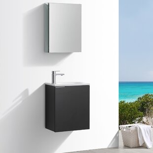 Best Reviews Senza Valencia 20 Wall Mounted Single Bathroom Vanity Set By Fresca