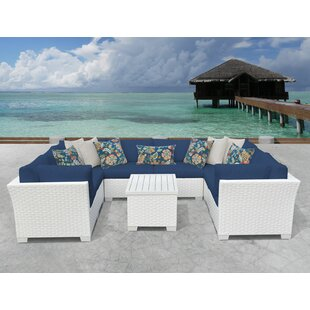 Monaco 9 Piece Sectional Seating Group with Cushions