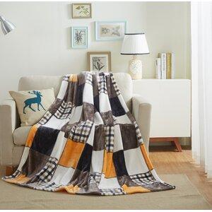 Fall Farmhouse Super Soft Patchwork Throw Blanket