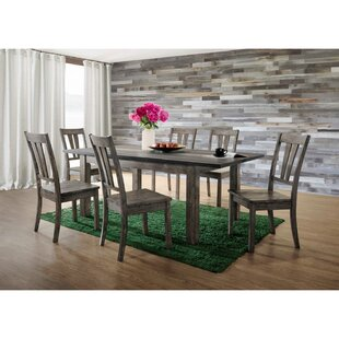Katarina 8 Piece Extendable Solid Wood Dining Set
