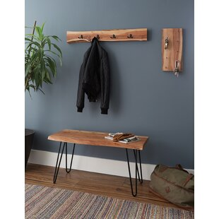 Brown Tindle Wood Bench by Union Rustic