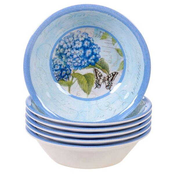 Ophelia Co Marquis Hydrangea 22 Oz Melamine Dining Bowl Wayfair