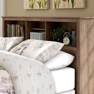Edmont Bookcase Headboard by Three Posts