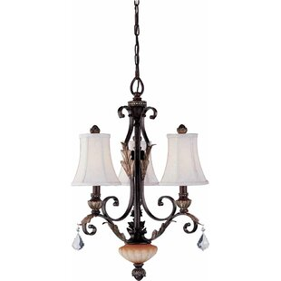 Andalusia 3-Light Shaded Chandelier by Volume Lighting