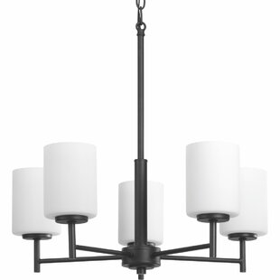 Buy luxury Knouse 5-Light Shaded Chandelier By Zipcode Design