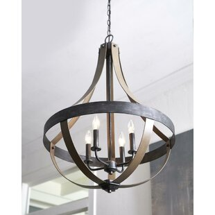 Gracie Oaks Kadence 4-Light Lantern Pendant