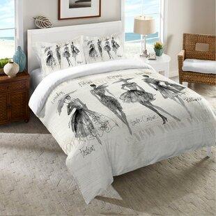 Shyann Fashion Sketchbook Comforter by Brayden Studio