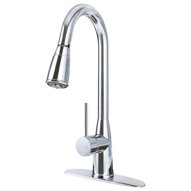 Hardware House Pull Out Single Handle Kitchen Faucet With Magnetic