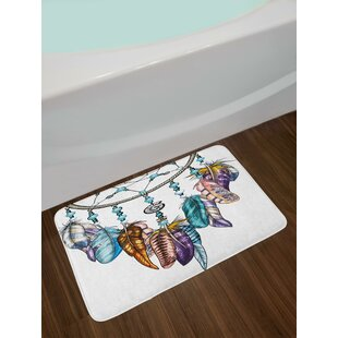 Ornate Feather Bath Rug