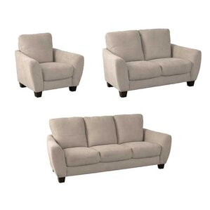 Lacy 3 Piece Living Room Set by Latitude Run