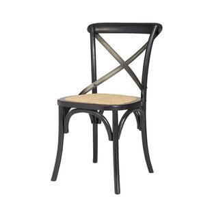 Leff Cross Back Solid Wood Dining Chair (..