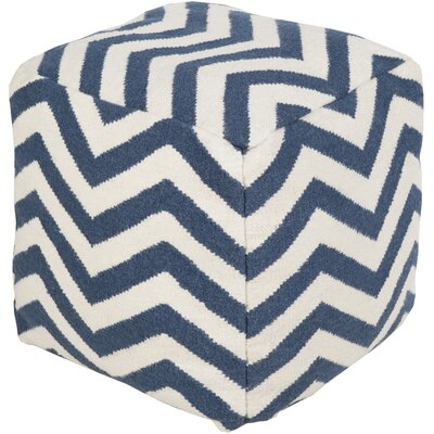 Angell Pouf Upholstery: Blue/Winter White by Brayden Studio