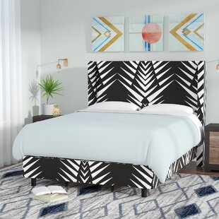 Brayden Studio Thaxton Wingback Upholstered Panel Bed