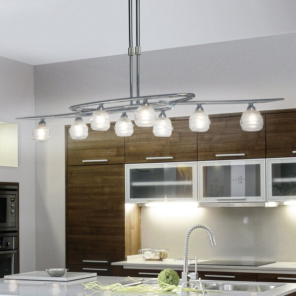 Mantra Lighting Loop 8 Light Kitchen Island Pendant