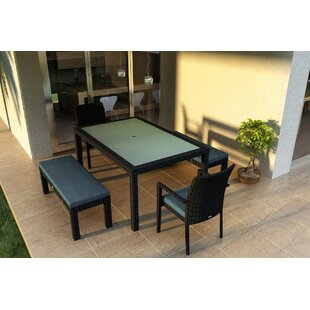 Hermina 6 Piece Sunbrella Dining Set with Cushions by Latitude Run