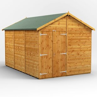 8 Ft. W X 12 Ft. D Solid Wood Garden Shed By WFX Utility