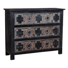 Ariha 3 Drawer Gentleman's Chest by Bungalow Rose