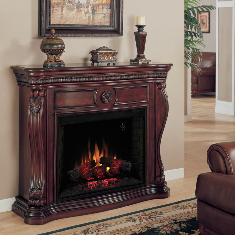 Electric Fireplace electric fireplace mantel : Classic Flame Lexington Electric Fireplace Mantel Surround ...