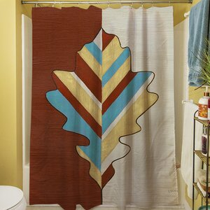 Apache Leaf IV Shower Curtain Manual Woodworkers & Weavers