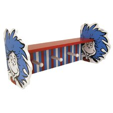 Dr. Seuss Cat in the Hat Thing 1 and Thing 2 Shelf with Peg by Trend Lab
