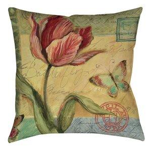 Helene Tulip Indoor/Outdoor Throw Pillow