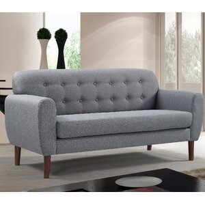 Mid-Century Tufted Loveseat by Container