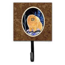 Starry Night Pomeranian Leash Holder and Wall Hook by Caroline's Treasures