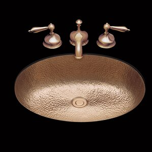 Sculptured Metal Oval Undermount Bathroom Sink