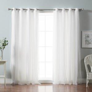 white curtains & drapes you'll love | wayfair