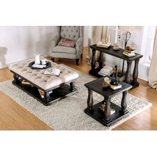 Althea Transitional Fabric 3 Piece Coffee Table Set by Alcott Hill