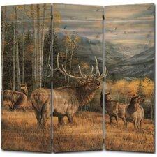 55 x 55 Meadow Music Elk 3 Panel Room Divider by WGI-GALLERY
