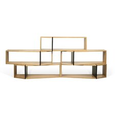 One Module 41 Accent Shelves Bookcase by Tema