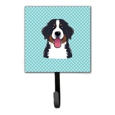 Checkerboard Bernese Mountain Dog Leash Holder and Wall Hook by Caroline's Treasures