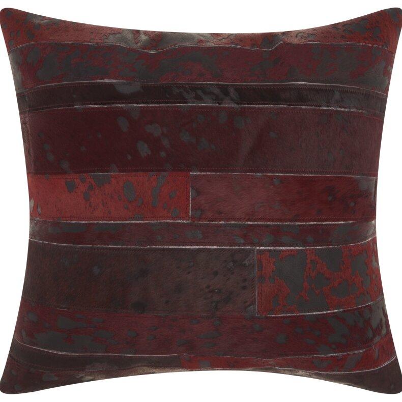 Trent Austin Design Havza Acid Wash Natural Hide Throw Pillow Wayfair.ca