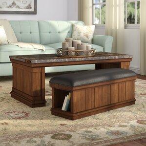 marble/granite-top coffee tables | wayfair