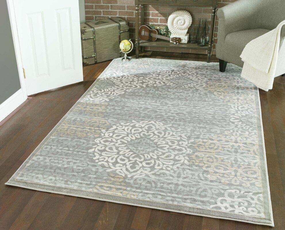 charlton home ackermanville gray area rug  reviews  wayfair - defaultname