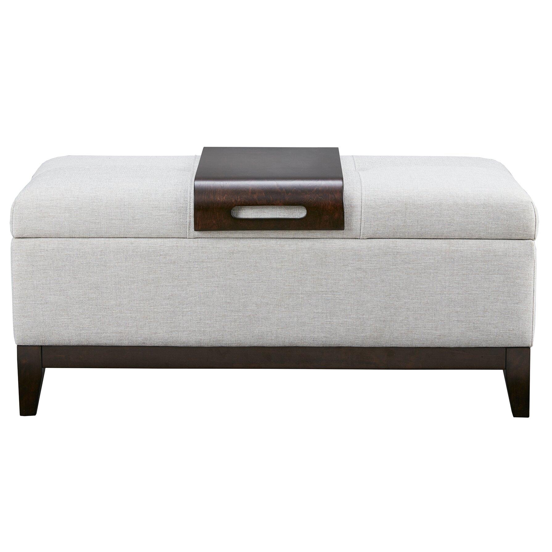 Mercury Row Coffey Upholstered Storage Bedroom Bench