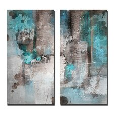 'INKD XXVI' Framed 2 Piece Set on Canvas (Set of 2)