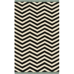 Chevron Ink Outdoor Rug