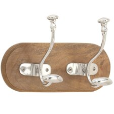 Aluminum and Wood Wall Hook by Winston Porter