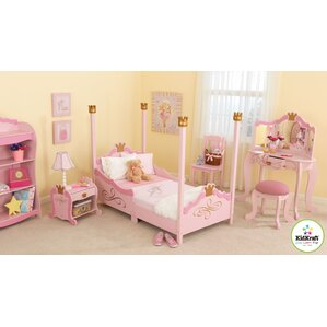 Princess Toddler Four Poster Customizable Bedroom Set  Princess Bedroom Set