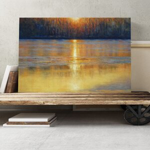'Sunset' by Valerie Petts Painting Print on Canvas
